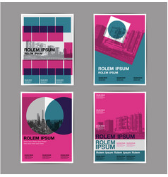 layout design set 4 template abstract background vector image
