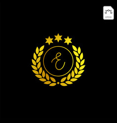 Luxury e initial logo or symbol business company vector