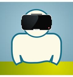 Man in virtual glasses vector