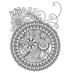Mandala adult coloring pages vector