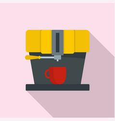 modern coffee machine icon flat style vector image