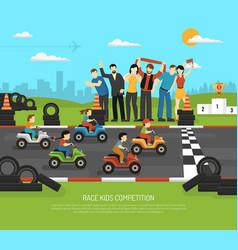Motor racing kids background vector