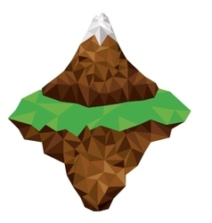 mountain and terrain low poly isolated icon design vector image