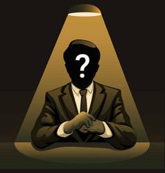 Mysterious man under spotlight concept vector