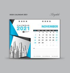 November 2021 template desk calender 2021 vector