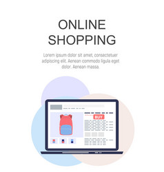 online shopping concept flat background vector image