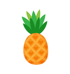 pineapple with foliage isolated icon fruit vector image