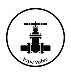 Pipe valve icon vector
