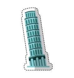 Piza tower isolated icon vector