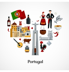 portugal flat vector image