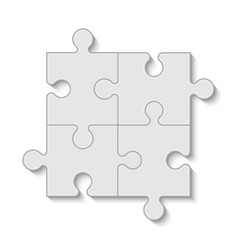 puzzle piece business presentation vector image