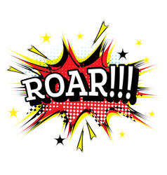 roar comic text in pop art style vector image