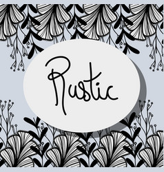 Rustic decoration with branches design background vector