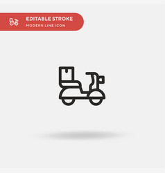 scooter simple icon symbol vector image