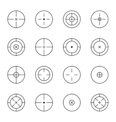 set different types crosshair vector image
