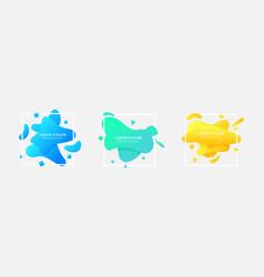 set square liquid color gradient background vector image