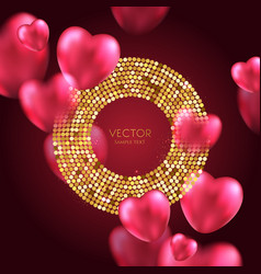 Shine gold luxury background vector