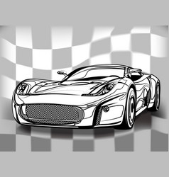 silhouette sport car for racing sports vector image