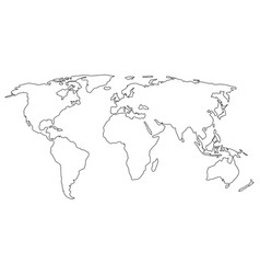 simple world map sign on white background vector image