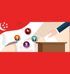 singapore democracy political process selecting vector image