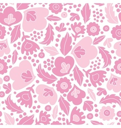 soft pink floral silhouettes seamless pattern vector image