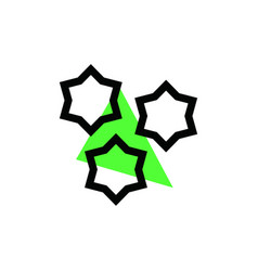 space icon logo vector image