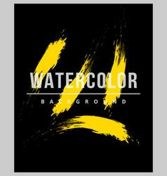 Stroke watercolor background design vector