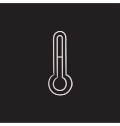 Thermometer sketch icon vector image