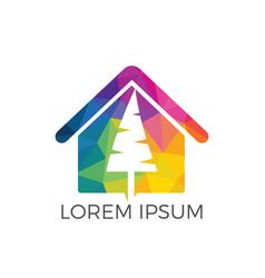 tree house logo design vector image