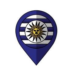 uruguay flag isolated icon vector image