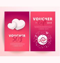 Valentines day voucher vector