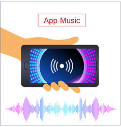 voice recognition on mobile app personal vector image