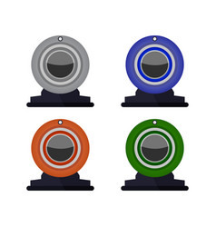 Webcam icon in on white background vector