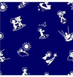White bear-spacemen pattern vector image
