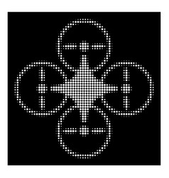 White halftone air copter icon vector