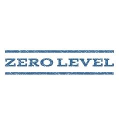 Zero Level Watermark Stamp vector image