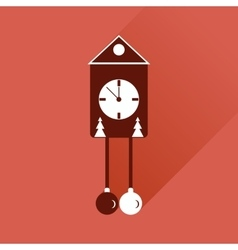 Flat web icon with long shadow christmas clock vector