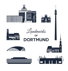 Landmarks of Dortmund vector image