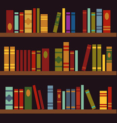 library book shelves book box vector image
