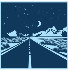 night highway vector image vector image