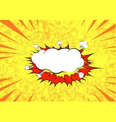 pop art graphic explosion speed cloud bright vector image vector image