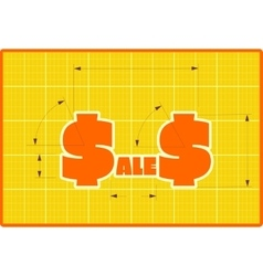 Sales draft style sticker vector image vector image