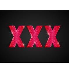 XXX Text vector image