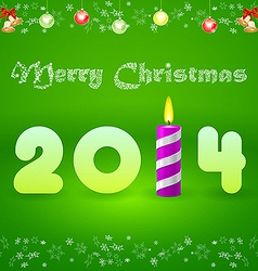 Christmas card with the inscription 2014 and vector image