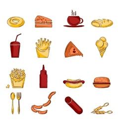 Fast food icon sketch vector image vector image