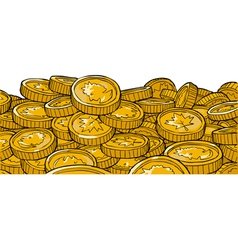 gold coins of canada vector image