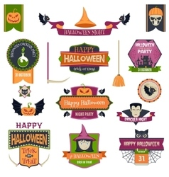 Halloween Badges and Labels vector image vector image