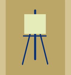 icon easel flat design symbol vector image