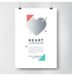 Modern poster design vector image vector image