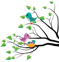 Spring birds vector